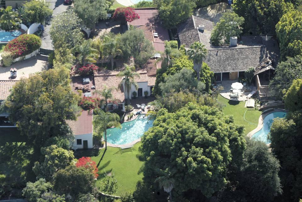 Marilyn Monroe's Brentwodod House overhea