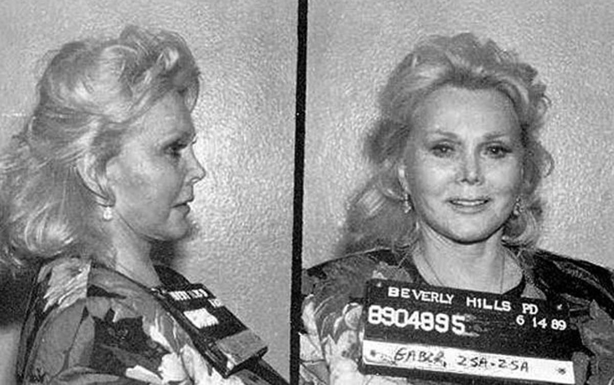zsa zsa gabor mugshot old hollywood history