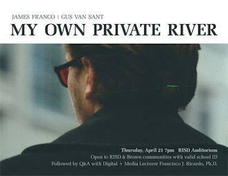 Movie poster from the film My Own Private River - River Phoenix seen from the back